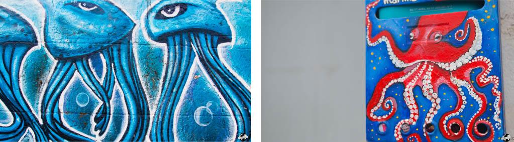 Street art Sète poulpes