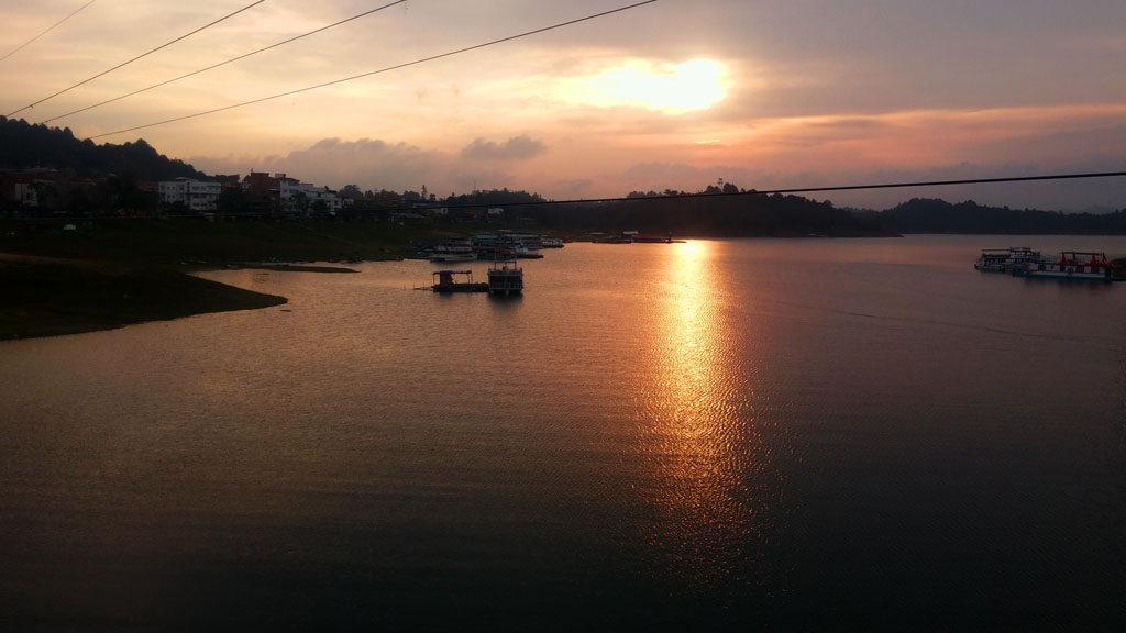guatape coucher soleil